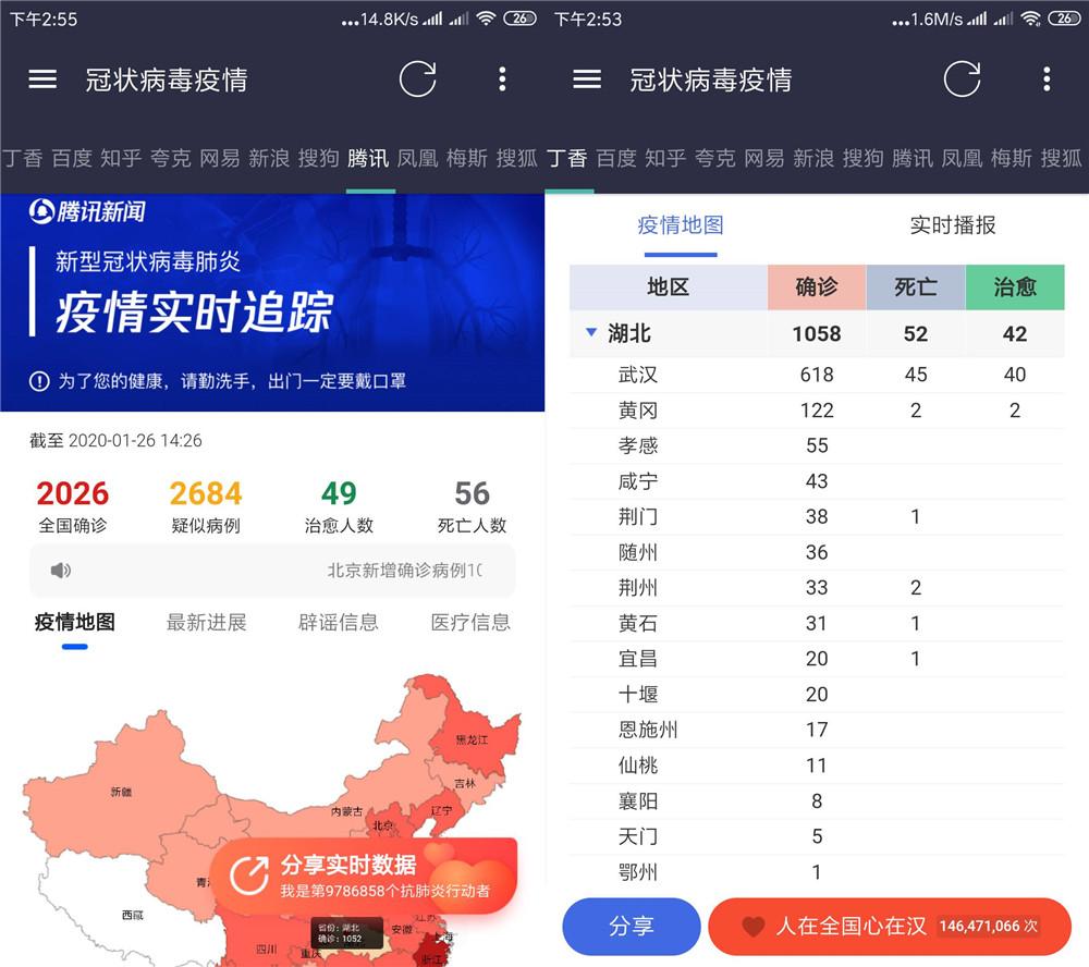 安卓肺炎疫情追踪聚合app