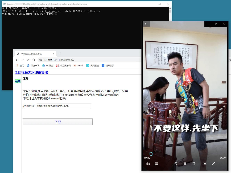 全网无水印短视频采集下载