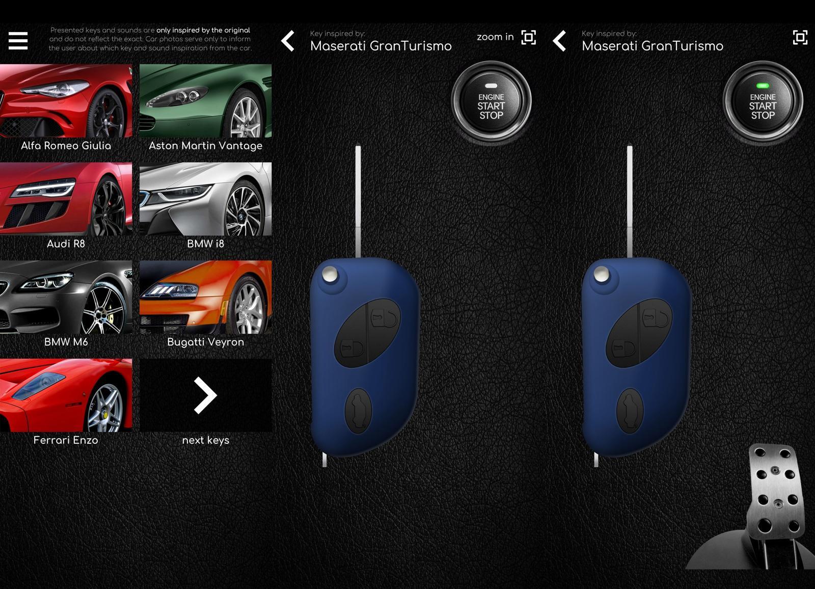 APP车钥匙模拟器超级跑车音效
