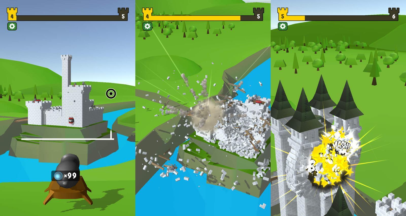街机休闲游戏 城堡毁灭者
