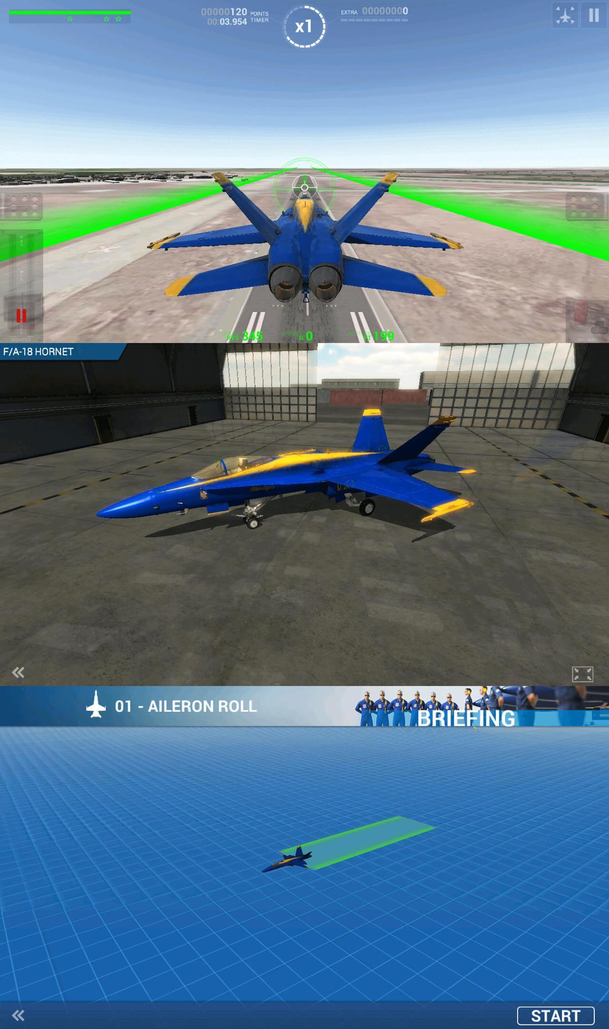 飞行游戏 蓝色天使特技飞行