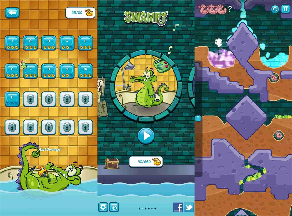 趣味的益智游戏 小鳄鱼爱洗澡