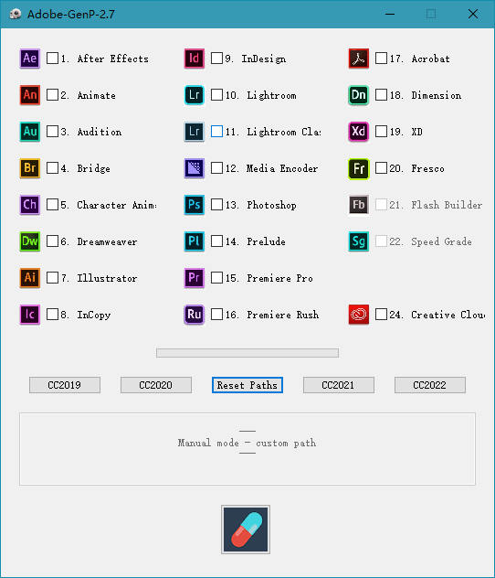 Adobe 通杀补丁 GenP/Zii