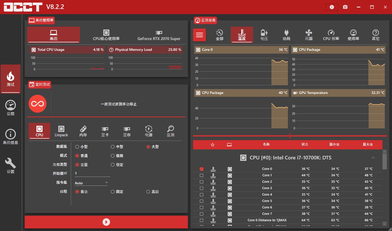 电源检测工具OCCT v8.2.2单文件版