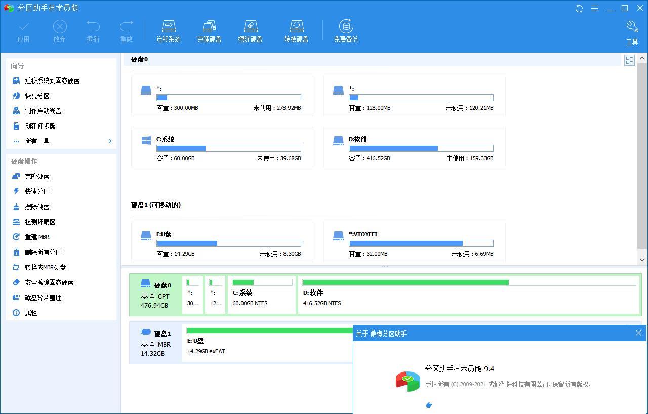 分区助手技术员v9.4.0特别版